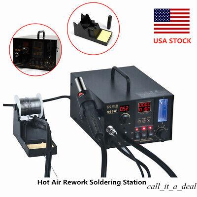 968a 4 In1 Digital Heat Gun Hot Air Rework Soldering Station Soldering Iron Kit