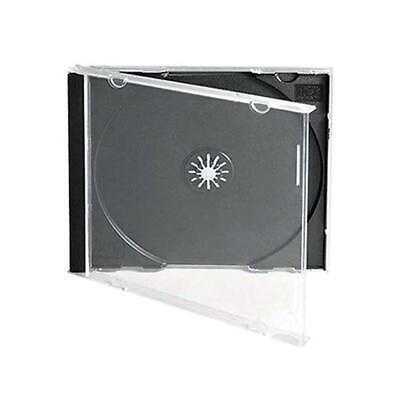 25 Standard 10.4 Mm Jewel Case Single Cd Dvd Disc Storage Assembled Black Tray