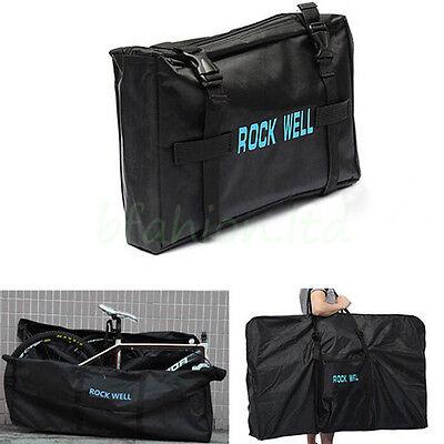 """Folding Bicycle Carry Storage Bag 26"""" MTB Bike Transport Case 600D Hardwearing"""