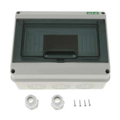 8way Ip65 Weatherproof Consumer Unit Din Rail Distribution Enclosure Box Cover