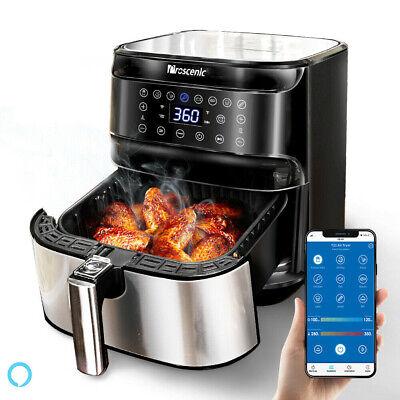 1700w Air Fryer 5.8qt Oilless Electric Oven Led App Temptimer 8 Cooking Preset
