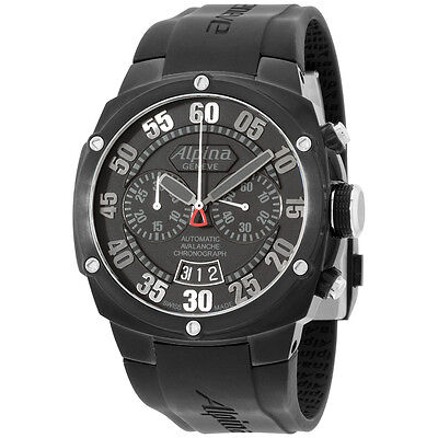 Alpina Avalanche Extreme Black Dial Silicone Strap Men's Watch AL850BB4FBAE6