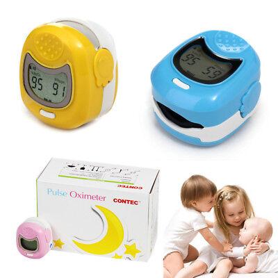 Child Pediatric Finger Pulse Oximeter Spo2 Heart Rate Lcd Blood Oxygen Monitor