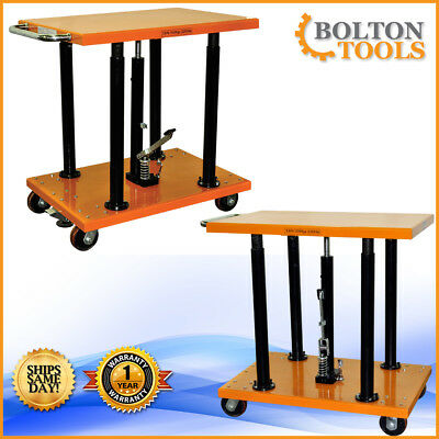 Material Handling 2200 Lb Center Post Hydraulic Lift Table Cart Pt-20-2436