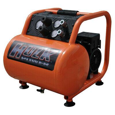 Hulk Hp15p005ss 1.5 Hp 5 Gal. Silent Air Portable Compressor New