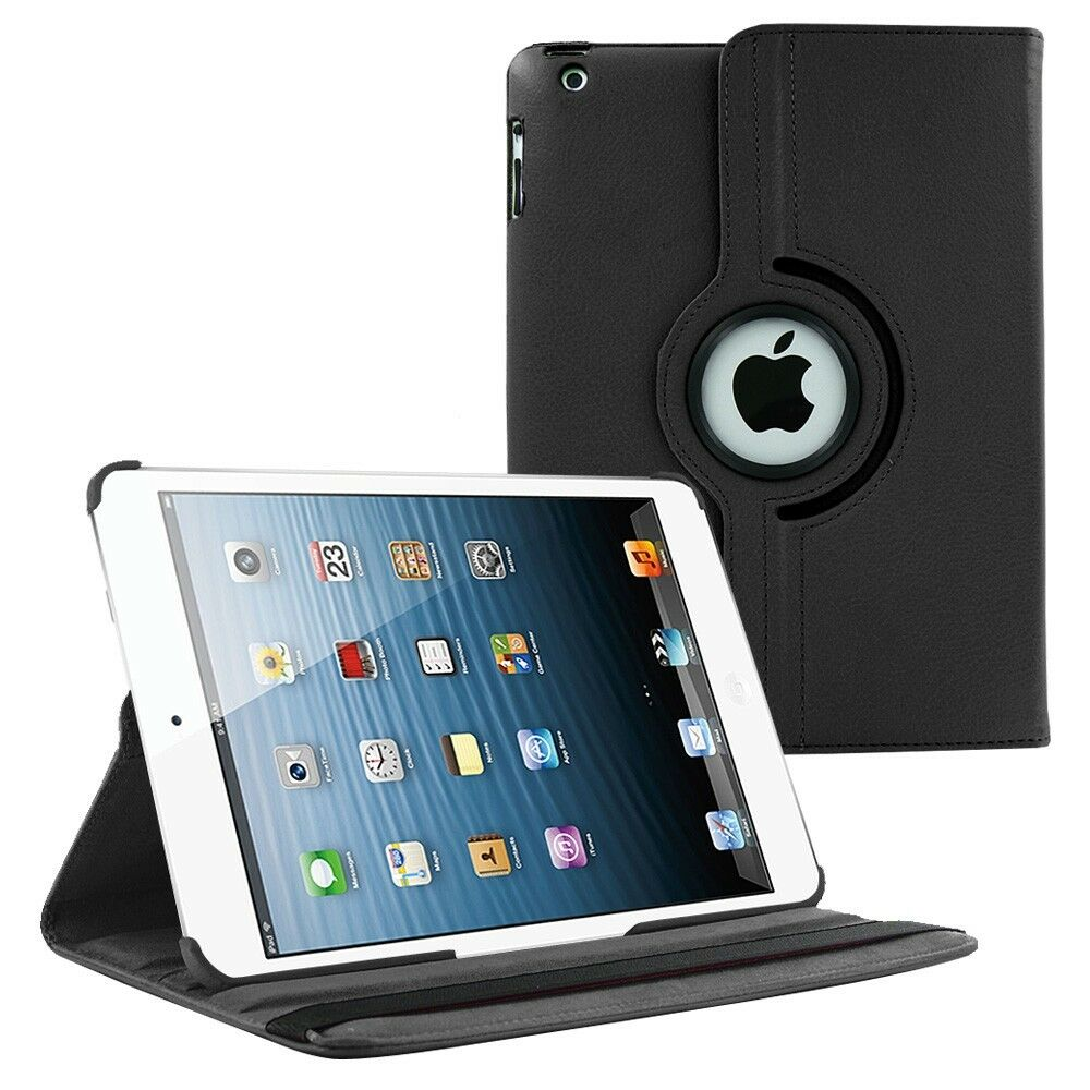 360 Leather Case for Apple iPad 9.7 5th 2017 2 3 4 Mini 7.9 Air Pro 12.9 10.5