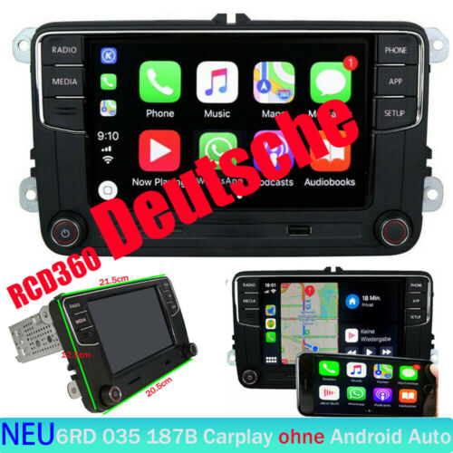 Autoradio RCD330 Deutsch CarPlay BT RVC Für VW GOLF5 6 POLO CADDY EOS PASSAT CC