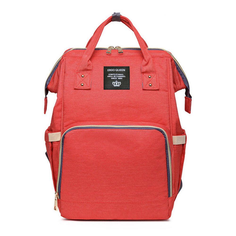 Ergo Diaper Bag Backpack Mummy Maternity Nappy Large Capacity Baby Bag Travel  Orange Red