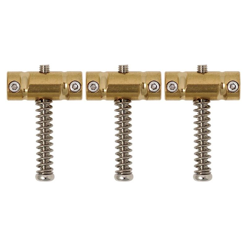 Gotoh In-Tune Compensated Saddles For Tele, Brass, Set of 3
