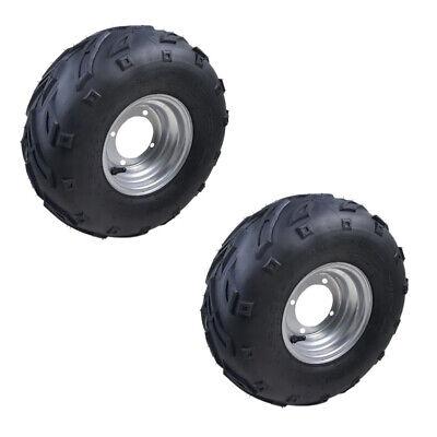 "2x 16X8- 7"" Wheel Rim + Tyre Tire 4 Stud 150 125cc Quad Dirt Bike ATV UTV Buggy"