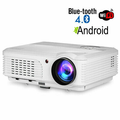 Blue-tooth Android LED Projector Wireless Home Theater Party HDMI USB Miracast
