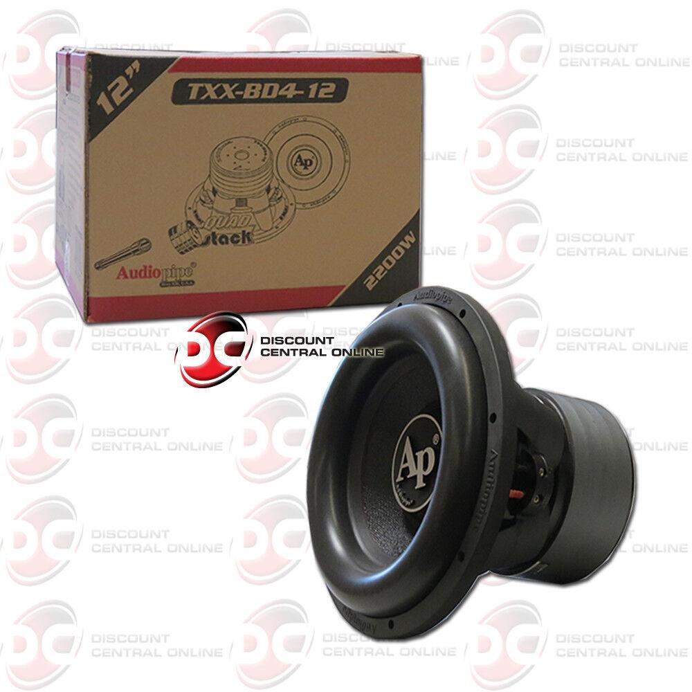"Audiopipe TXXBD412 12"" Woofer 2200 Watts Dual 4 Ohm Vc"