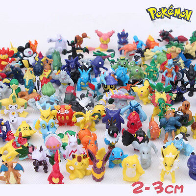 HOT 2 PCS Random Cartoon Pokemon Monster Action Mini Figures Toys Party Gifts