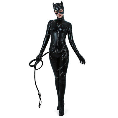 Catwoman Costume Adult Sexy Suit Cosplay Black Catsuit - Catwoman Adult Costume