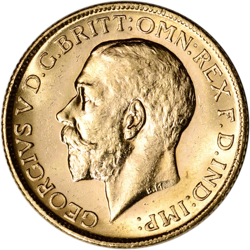 Australia Gold Melbourne M Sovereign .2354 oz - George V XF-AU Random Date