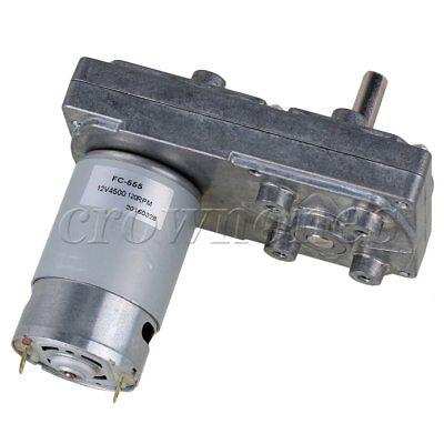 Silver 12v 120rpm Square High Torque Gear Box Geared Electric Drive Motor