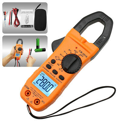 6000 Counts Digital Clamp Meter Tester Acdc Auto Range Multimeter Trms Us Stock