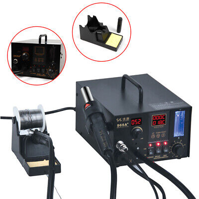 968a 4 In1 Smd Soldering Iron Hot Air Rework Station Desoldering Repair Machine