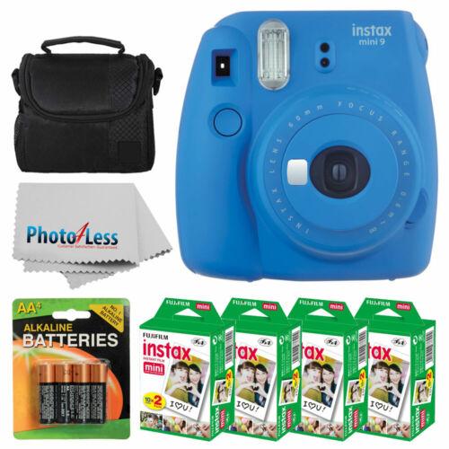 Fujifilm instax mini 9 Instant Film Camera  + Fujifilm Instax Mini Twin Pack Instant Film  + Camera Case + AA Batteries + Accessory Bundle