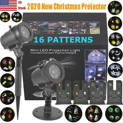 !2020 New! Christmas Light Projector LED Laser Outdoor Landscape Xmas Move Lamp