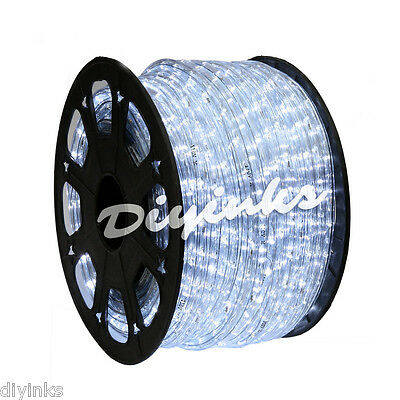 Distant White LED Rope 150ft 110V 2 Wire Flexible DIY Lighting Outdoor Christmas