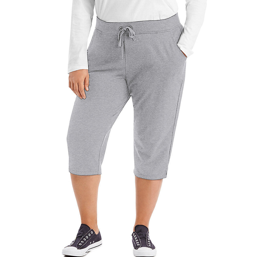 6b758391f0df Just My Size French Terry Women's Capris - Hanes 4x Light Steel 28 ...