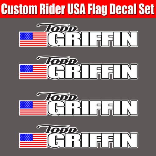 4 piece Custom Bicycle Frame Name USA decal sticker set road bike Cycling - BTS