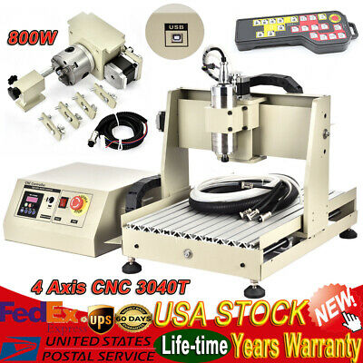 4 Axis Cnc 3040t Router Engraver Usb 800w Engraving Milling Machinecontroller