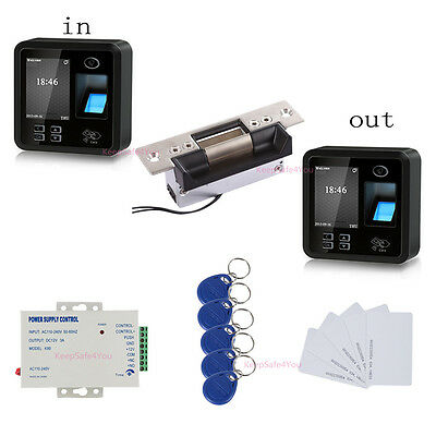 Pass In and Out Tracking Bio Fingerprint Access Control Systems ANSI Strike Lock