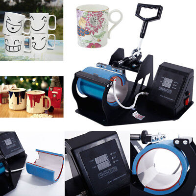 Cup Mug Heat Press Machine Transfer Sublimation Diy Thanksgiving Gifts Portable