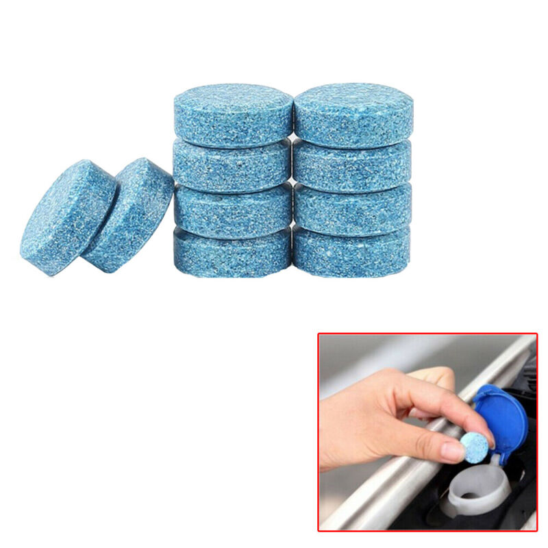 10pcs Car Windshield Washer Cleaning Solid Effervescent Tablets Accessories Blue