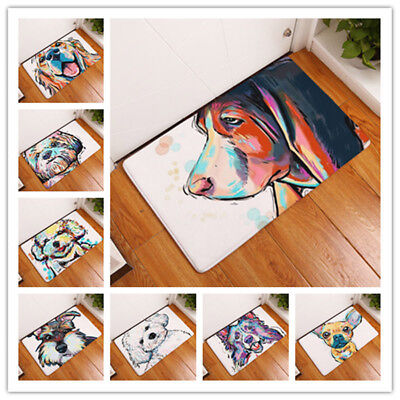 - Cartoon Dog Non Slip Door Floor Mat Hall Rugs Kitchen Bathroom Carpet Home Decor