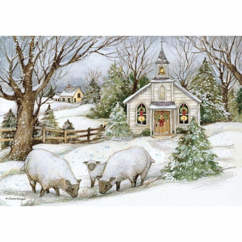 Lang Companies,  Grazing Morning Petite Christmas Cards by Susan Winget