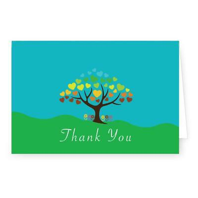Thank You - Tree & Hearts - 4 x 6 Folded Note Card ()