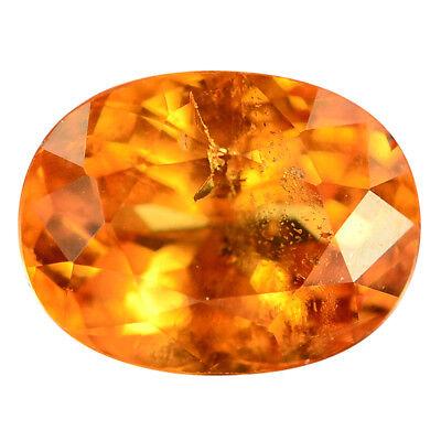 1.16 Ct. Charming Intense Orange Color Mandarin Garnet Gem WITH GLC CERTIFY Intense Mandarin Orange