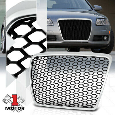 For 2008-2010 Audi A6/QuattroSilver/Black ABS Bumper Grille