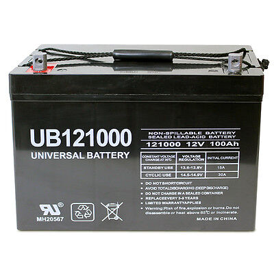 UPG 12V 100Ah SOLAR WIND AGM SLA DEEP CYCLE VRLA BATTERY 12V 24V 48V