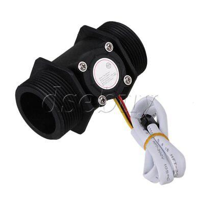 Dn40 G1.5 Water Flow Hall Effect Sensor Switch Gauges Flowmeter Counter Black