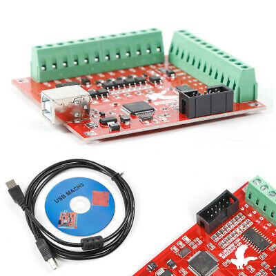 100khz Usb Cnc Smooth Stepper Motion Controller Driver Card For Mach3 4 Axis
