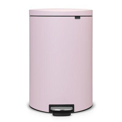 brabantia Treteimer Flatback Mülleimer 40 L Abfallsammler Mineral Rosa Pink matt