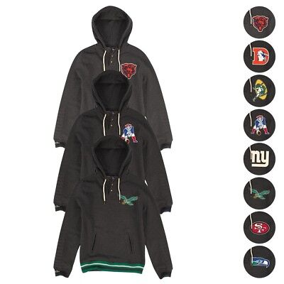 Nfl Mitchell   Ness  Audible Hoody  Vintage Pullover Hoodie Collection Mens