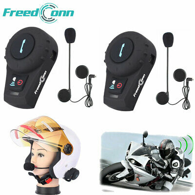 2x Bluetooth Headset Motorrad Helm Intercom Interphone Kommunikationssystem Neu Interphone Bluetooth-headset