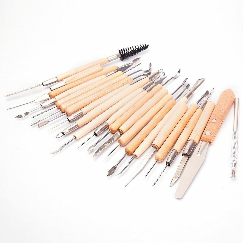 NEW 22PCS Pottery Clay Sculpture Sculpting Carving Modelling Ceramic Hobby Tools Ceramics & Pottery