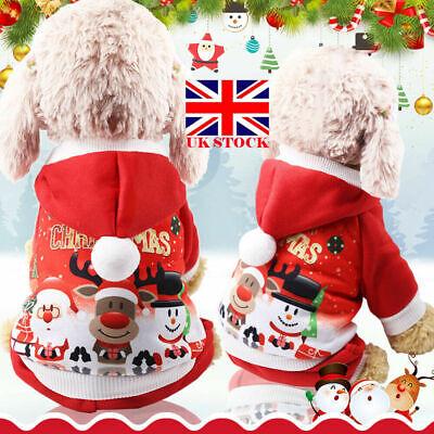 Kostüm Hund Weihnachten Klein Fell Outfit Kleidung Pullover (Santa Hund Kostüme)