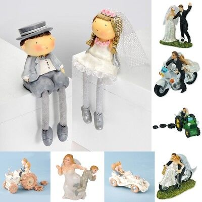 Novelty Bride and Groom Wedding Cake Toppers Table Decorations - Bride And Groom Table