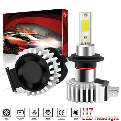 H7 LED Headlight Bulb Kit High Low Beam 2400W 360000LM 6000K White Plug And Play