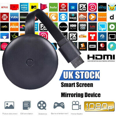 For Chromecast Google 3rd Generation 1080P HDMI Digital Video Media TV Streamer