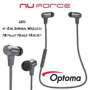 Optoma BE6i in-Ear Binaural Wireless Grey,Metallic Mobile Headset Condtion: Lightly used