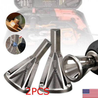 2pcs Stainless Steel Deburring External Chamfer Tool Drill Bit Remove Burr Tools
