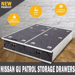 NEW Nissan GU Patrol  4WD Storage Drawers Fridge Slide Rear Drawer Steel Frame